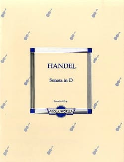 Sonate In D - Alto - HAENDEL - Partition - Alto - laflutedepan.com