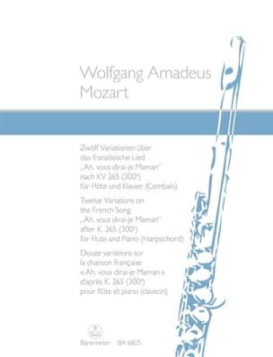 12 Variationen über Ah, vous dirai-je Maman - Flöte Klavier laflutedepan