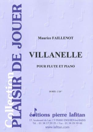 Villanelle Maurice Faillenot Partition laflutedepan