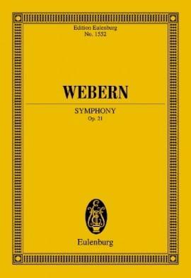 Symphonie, opus 21 WEBERN Partition Petit format - laflutedepan