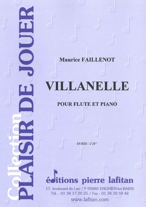 Villanelle - Maurice Faillenot - Partition - laflutedepan.com