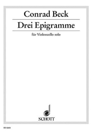 3 Epigramme Conrad Beck Partition Violoncelle - laflutedepan