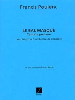 Le Bal Masqué - Conducteur POULENC Partition laflutedepan