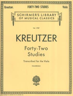 42 Studies - Viola Blumenau Rodolphe Kreutzer Partition laflutedepan