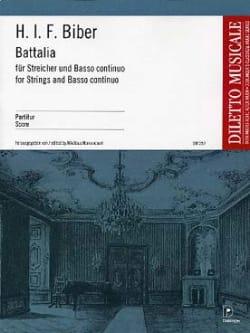 Battalia - Partitur BIBER Partition Grand format - laflutedepan