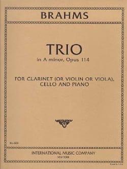 Trio in A minor op. 114 -Clarinet cello piano BRAHMS laflutedepan