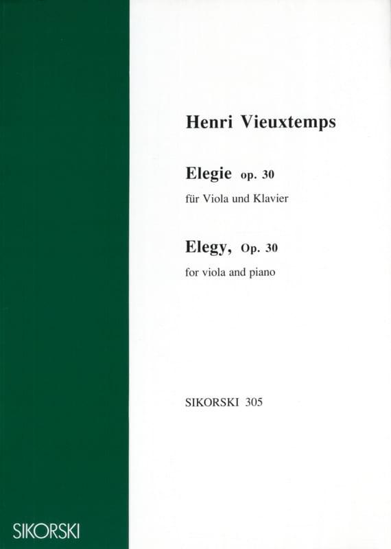 Elegie op. 30 - VIEUXTEMPS - Partition - Alto - laflutedepan.com