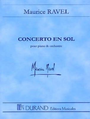 Concerto en Sol pour piano et orch. - Conducteur - laflutedepan.com