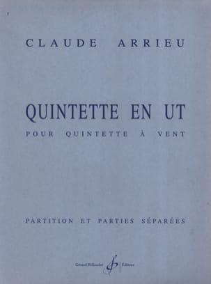 Quintette En Ut - Partition & Parties Claude Arrieu laflutedepan