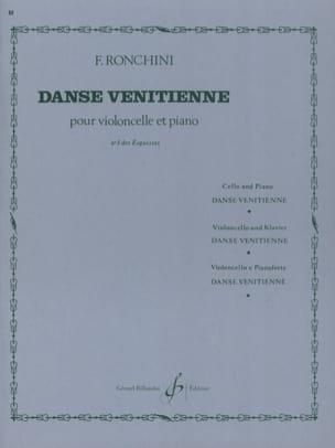 Danse vénitienne Ronchini Partition Violoncelle - laflutedepan