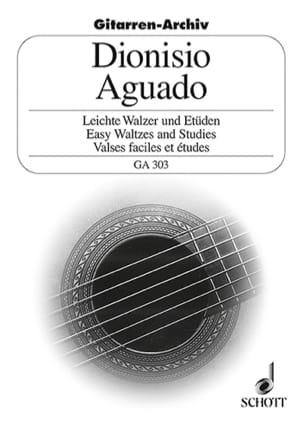 Leichte Walzer und Etüden Dionisio Aguado Partition laflutedepan
