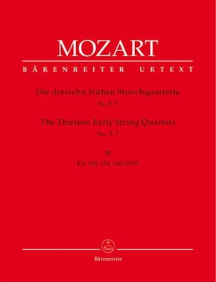 13 Frühe Streichquartette, Heft 2 KV 158-160 -Stimmen laflutedepan