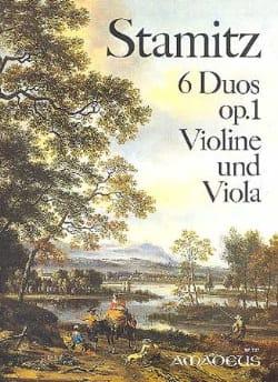 6 Duos op. 1 - Violine und Viola STAMITZ Partition 0 - laflutedepan