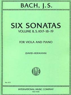6 Sonates, Volume 2 transcr. BWV 1017-1019 BACH Partition laflutedepan