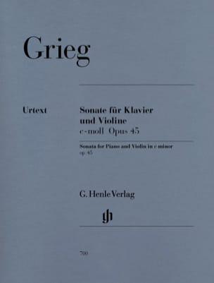 Sonate op. 45 c-moll GRIEG Partition Violon - laflutedepan