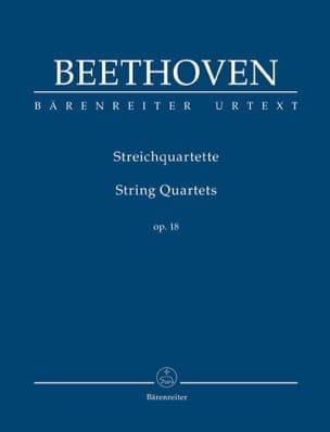 String Quartets Op.18 BEETHOVEN Partition Petit format - laflutedepan