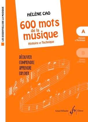 600 mots de la musique - A - Hélène Cao - Partition - laflutedepan.com