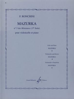 Mazurka F. Ronchini Partition Violoncelle - laflutedepan