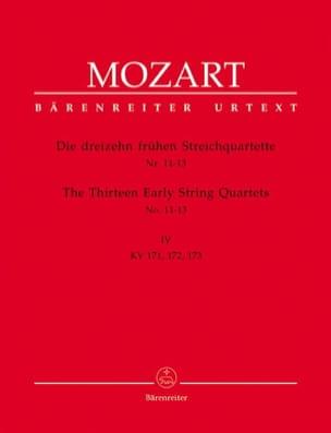 MOZART - 13 Frühe Streichquartette, Heft 4 KV 171-173 - Stimmen - Partition - di-arezzo.com