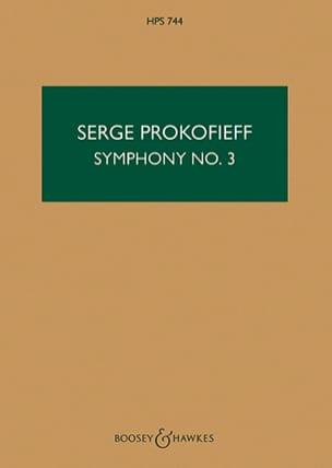 Symphonie n° 3 op. 44 - Score PROKOFIEV Partition laflutedepan