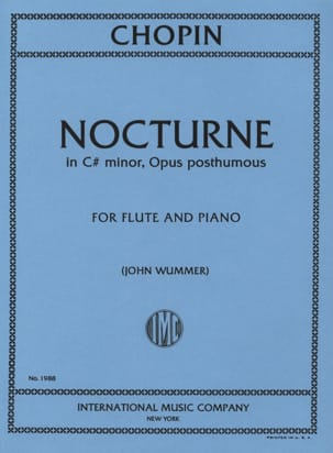 Nocturne in C # minor op. posth. - Flute piano CHOPIN laflutedepan
