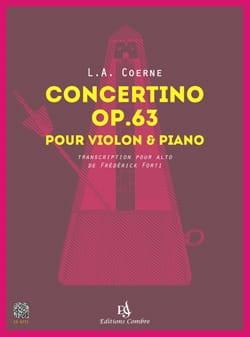 Concertino, opus 63 - Alto et piano Louis-Adolphe Coerne laflutedepan