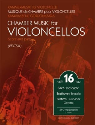 Chamber Music for Violoncellos Vol. 16 Partition laflutedepan
