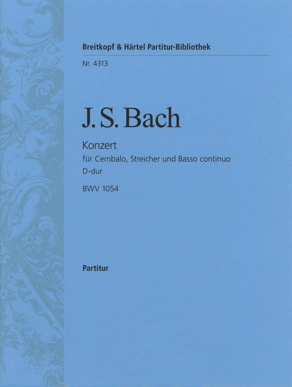 Cembalokonzert D-Dur BWV 1054 - Conducteur - BACH - laflutedepan.com