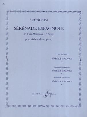 Sérénade espagnole F. Ronchini Partition Violoncelle - laflutedepan