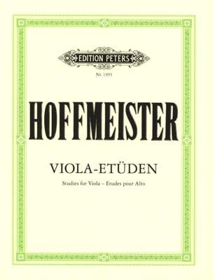 Viola-Etüden HOFFMEISTER Partition Alto - laflutedepan