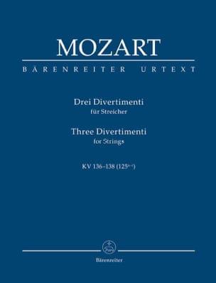 3 Divertimenti für Streichquartett oder Streichorchester. Urtext der NeuenMozart laflutedepan