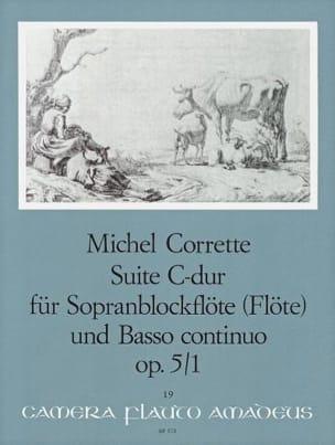 Suite en Do Majeur Opus 5 N° 1 CORRETTE Partition laflutedepan