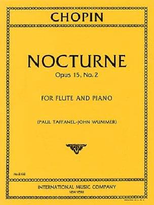 Nocturne op. 15 n° 2 - Flûte et piano CHOPIN Partition laflutedepan