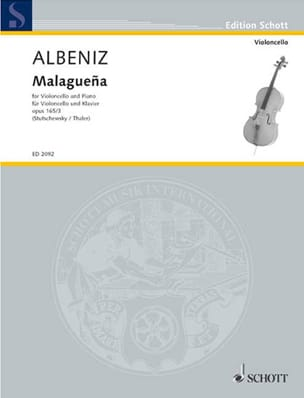 Malaguena op. 165 n° 3 ALBENIZ Partition Violoncelle - laflutedepan