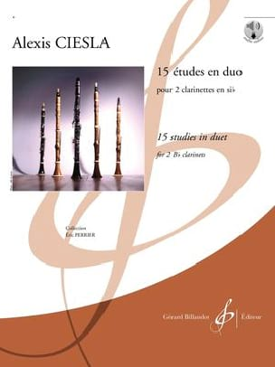 15 Etudes en Duo Alexis Ciesla Partition Clarinette - laflutedepan