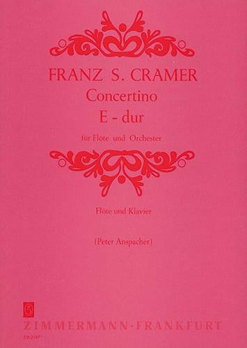 Concertino E-Dur- Flöte Klavier - Franz S. Cramer - laflutedepan.com