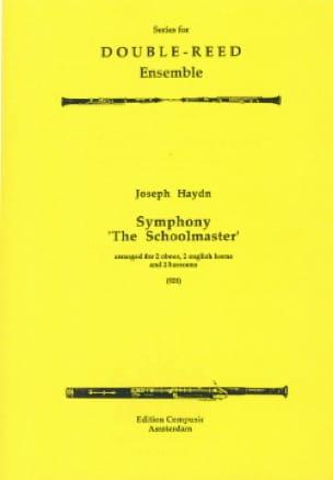 Symphony The Schoolmaster -2 Oboes 2 english horns 2 bassoons - laflutedepan.com