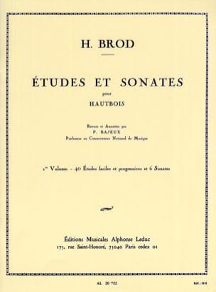 Etudes et Sonates Volume 1 Henri Brod Partition laflutedepan