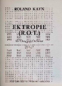 Ektropie R. O. T. - Roland Kayn - Partition - laflutedepan.com