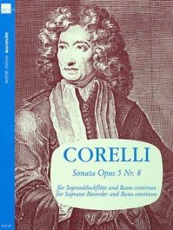 Sonata Op. 5 N° 8 CORELLI Partition Flûte à bec - laflutedepan