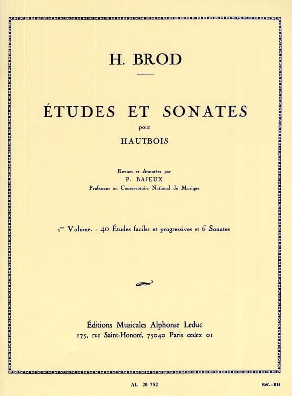 Etudes et Sonates Volume 1 - Henri Brod - Partition - laflutedepan.com