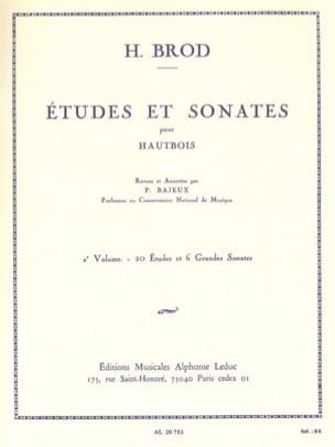 Etudes et Sonates - Volume 2 Henri Brod Partition laflutedepan