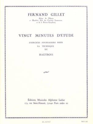 20 Minutes d'études Fernand Gillet Partition Hautbois - laflutedepan
