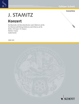 Konzert für Klarinette B-Dur - Partitur STAMITZ Partition laflutedepan