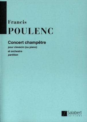 Concert champêtre - Conducteur POULENC Partition laflutedepan