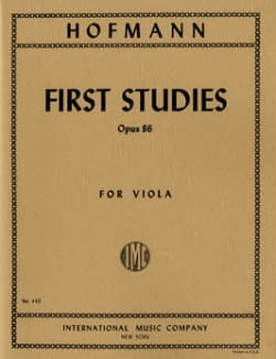 First Studies Op. 86 Richard Hofmann Partition Alto - laflutedepan