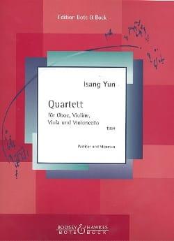 Quartett für Oboe und Streichtrio 1994 - Isang Yun - laflutedepan.com