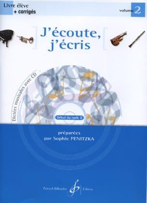 J'écoute, J'écris Volume 2 Sophie Penitzka Partition laflutedepan