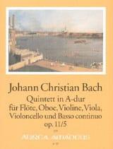 Johann Christian Bach - Quintet A-Dur op. 11 n ° 5 - Floe Oboe Violine VIola Cello BC - Partition - di-arezzo.co.uk