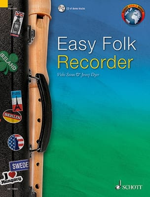 Easy Folk Recorder Partition Flûte à bec - laflutedepan